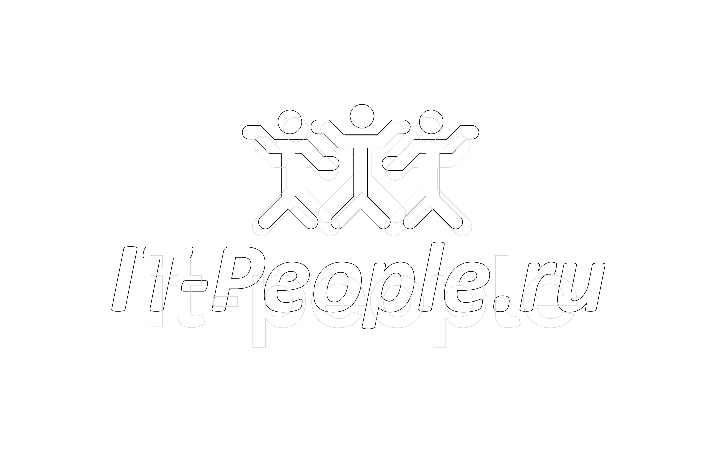 IT-People logo design process